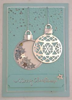 distINKtive STAMPING designs: Merry Christmas | Delicate Ornament Christmas Cards