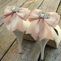 Check out this item in my Etsy shop https://www.etsy.com/listing/462501643/shoe-clips-blush-wedding-shoe-clips
