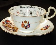 Aynsley of Knowledge King George Queen Elizabeth Tea Cup and Saucer | eBay