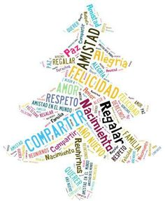 Nube de palabras de la #Navidad | Más materiales en www.profedeele.es