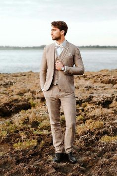 The Most Popular Groom Suits ❤ See more: http://www.weddingforward.com/groom-suits/ #weddingforward #bride #bridal #wedding