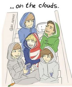 louis tomlinson Harry Styles One Direction Zayn Malik liam payne Niall Horan then and now fetus fanart one direction fanart Four Lyrics four-lyrics One Direction Fotos, One Direction Fan Art, One Direction Drawings, One Direction Cartoons, One Direction Wallpaper, One Direction Imagines, 1d Imagines, One Direction Pictures, One Direction Memes