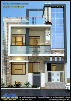 Here is Plan and view of 1225 sqft Modern contemporary Residential Project Design By Shekhar Kumawat Clint Name : Mr. Home Stairs Design, Duplex House Design, Home Room Design, House Front Design, Door Design, Modern Exterior House Designs, Modern House Facades, Modern House Design, Exterior Design