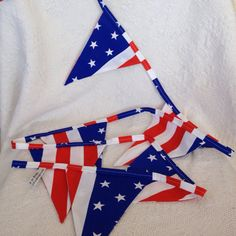 Stars and Stripes Fabric Bunting by MollyFelicityDesigns on Etsy, £10.00