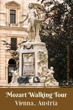 Follow our self-guided walk to the places Mozart lived, got married, and performed in, finishing at the beautiful memorial statue dedicated to his genius. #ViennaMozartPlaces #ViennaMozartWalk #MozartTourSelfGuided #ViennaWalkingTour #MozartSightsVienna #GPSmyCity