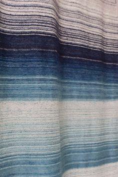 silk mohair band / ocean
