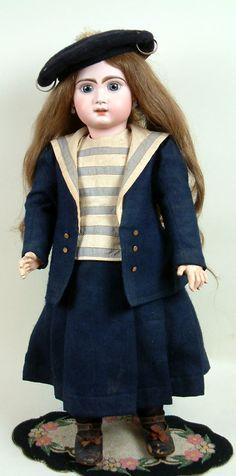 "Stupendous 26"" All Original Tete Jumeau Antique French Bebe Doll C. 1882"