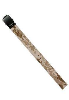54inch Desert Digital Camouflage Tan Reversible Web Belt With Black Buckle ! Buy Now at gorillasurplus.com