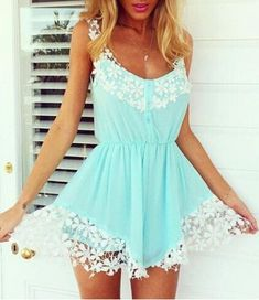 Stylish White Half Sleeve Lace Hollow Women's Playsuit Jumpsuits & Rompers | RoseGal.com Mobile