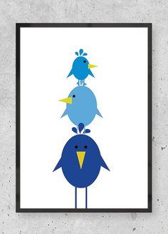 Tre på stribe blå - Buus + eriksen