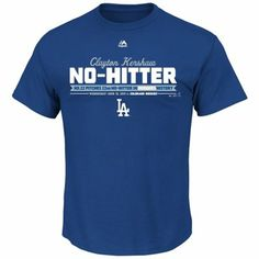 Clayton Kershaw L.A. Dodgers Majestic No-Hitter T-Shirt - Royal Blue