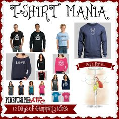 Order them NOW, the Firefighter Wife Store will be closing for the Holiday Season on DECEMBER15th. Day 5 of 12 Days of Shopping: T-SHIRT MANIA.  So many colors, styles and designs to choose from.  Find them all here: http://firefighterwife.com/blog/2014/12/02/day-5-of-fire-family-shopping-t-shirt-mania/