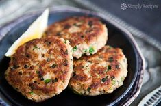 Quick EASY healthy Tuna Patties! Easy to make, and easy on the budget. Best thing you can make with canned tuna. Your kids will LOVE them. On SimplyRecipes.com #Tuna #CannedTuna #TunaPatties #Fish #Seafood #Dinner #EasyDinner