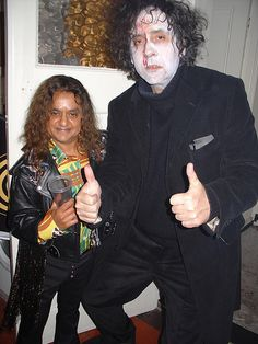 Tim & Deep Roy at a Halloween Party 2004
