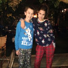 Are you excited for the Christmas episode? Check out this photo of Hayden Byerly and Maia Mitchell in their Christmas pajamas. | The Fosters