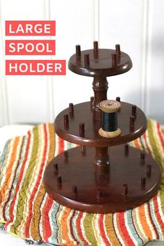 Your place to buy and sell all things handmade Spool Holder, Thread Holder, Vintage Thrift Stores, Thrift Store Crafts, Craft Room Storage, Diy Storage, Storage Ideas, Tall Plant Stands, Thread Organization