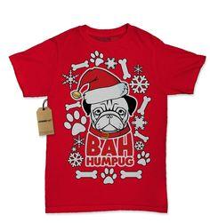 Bah HumPug Ugly Christmas Holiday Womens t-shirt!  #tshirt #tshirts #printedtshirts #graphictshirts #cooltshirts #christmastshirts #expressiontshirts http://teehunter.com/