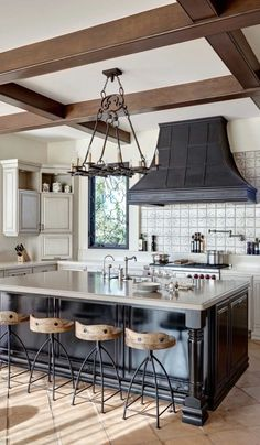If you like the look of warm, welcoming old-world homes, Spanish Revival might be the style for you. We've already explored some of the classic architectural and interior elements of this type of design. Now, let's take a peek inside some kitchens to see how the style is expressed in the heart of the home. :) #interiordecorstylestypesof