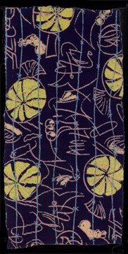 Barbed Wire textile by Henry Moore, 1946. Serigraphy on rayon