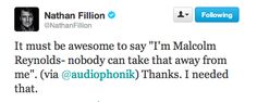 Nathan Fillion will always be Malcolm Reynolds.