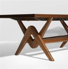 View Important Committee conference table from Chandigarh by Le Corbusier and Pierre Jeanneret on artnet. Browse upcoming and past auction lots by Le Corbusier and Pierre Jeanneret. Wood Table Legs, Slab Table, Wooden Dining Tables, Dining Table Design, Coffee Table Design, Dining Room Table, Folding Furniture, Woodworking Furniture, Table Furniture