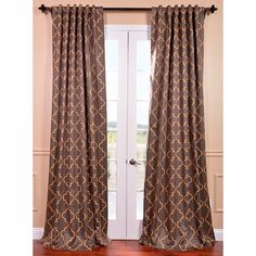 Shop for Exclusive Fabrics Seville Print Grey and Gold Blackout Curtain Panel. Get free delivery On EVERYTHING* Overstock - Your Online Home Decor Outlet Store! Get in rewards with Club O! Cool Curtains, Panel Curtains, Bedroom Curtains, Thick Curtains, Curtain Panels, Window Treatment Store, Window Treatments, Window Panels, Window Coverings