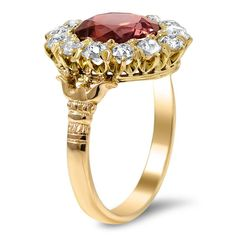 The Valorie Ring, top view