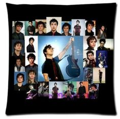 Free Shipping Funny Billie Joe Armstrong Poster vintage custom Zippered decorative pillowcase 20x20(inch) two sides