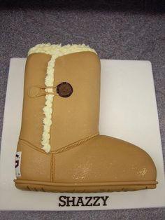 Ugg boot cake