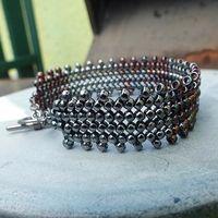 Matubo silver beads bracelet.