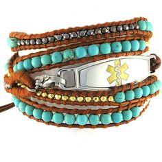 Beaded Medical Bracelet Desert Breeze