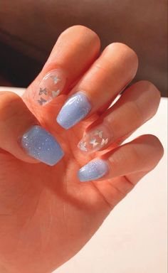 acrylic nails short \ acrylic nails ` acrylic nails coffin ` acrylic nails short ` acrylic nails almond ` acrylic nails designs ` acrylic nails for summer ` acrylic nails coffin summer ` acrylic nails coffin short Nail Design Glitter, Nail Design Spring, Acrylic Nail Designs For Summer, Acrylic Nails Designs Short, Acrylic Nails For Spring, Acrylic Nails With Design, Blue Nails With Design, Acrylic Nails Coffin Short, Blue Acrylic Nails