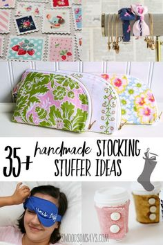 Skip the junky filler and sew your stocking stuffer gifts this year! Over 35 free sewing tutorials & patterns that are small enough to fit inside as a Christmas gift. gift fabric Handmade stocking stuffer ideas to sew Easy Sewing Projects, Sewing Projects For Beginners, Sewing Hacks, Sewing Tutorials, Sewing Crafts, Sewing Tips, Diy Crafts, Diy Gifts Sewing, Diy Projects