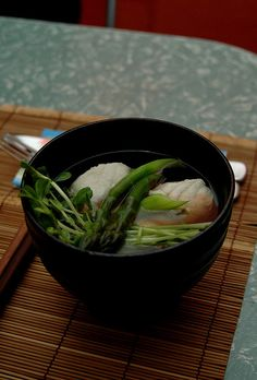 Recipe: Mackeral in a Clear Soup|サバのスープ Clear Soup, English Food, Japanese Food, I Foods, Asian Recipes, Cooking Tips, Spinach, Soups, Food Ideas