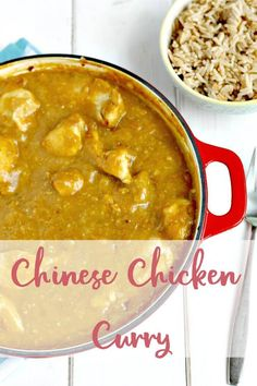 A delicious Chinese Chipshop Curry with leftover roast chicken. Homemade Chinese Food, Homemade Curry, Quick Beef Recipes, Cooking Recipes, Chicken Recipes, Chinese Curry Recipe, Potted Beef Recipe, Chinese Chicken, Gourmet