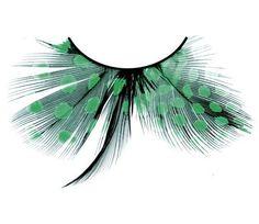 Federwimpern grün, Baci # 603 - Wimpernwünsche