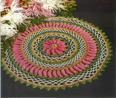 · Ganchillo multicolor tapete de Maggie Patrón gratuito