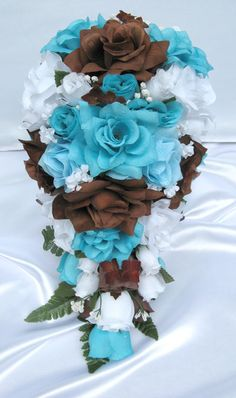 Brown and Turquoise Wedding Flowers | Please beware! Our original designs are repeatedly copied to the ...