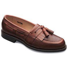 Men's Fashion & Shoes: Allen Edmonds Men Cody Tassel Loafers Chili/Weave