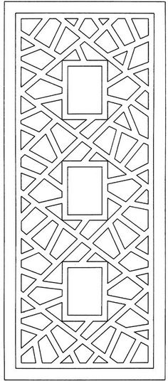 Abstract design for coloring.  Mount this on solid colored paper, laminate it and it makes a great bookmark!