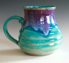 coffee mug. pretty glaze.