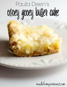 Paula Deen's Ooey Gooey Butter Cake. A classic