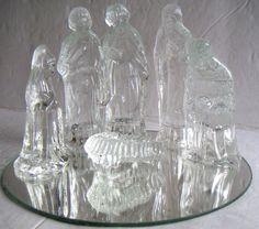 Vintage Glass Nativity SetChristmas Decoration by QVintage on Etsy, $15.00