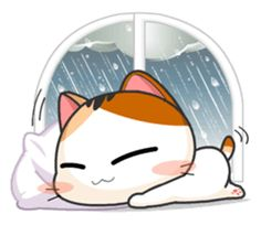 Gojill The Meow 4 by Piwio Studio sticker Cute Cat Drawing, Cute Animal Drawings, Cute Drawings, Chibi Cat, Anime Chibi, Anime Kitten, Cat Stickers, Kawaii Stickers, Neko