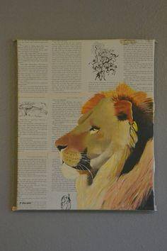 Soo cool!! Pick your favorite book and get an original painting!   This one is Aslan!   Made to order Custom Original Oil Painting of by BCSutherlandArt