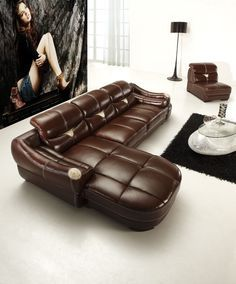 Leather sectional sofa chaise recliner — Interior & Exterior Doors
