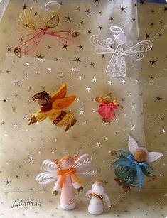 Master class Handicraft product Quilling thumbnails Angels Feechka and other photo paper strip 2