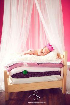 princess & the pea. The cutest baby photo idea I've ever seen!  My favorite fairy tale ever!