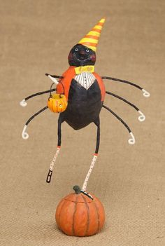 Lenny Long Legs Spider Figurine from TheHolidayBarn.com