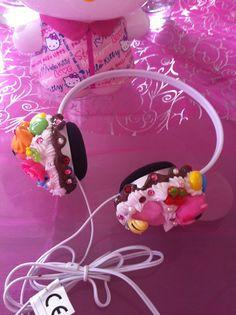 Lalaloopsy headphone cupcake kawaii decoden by Diy Kawaii, Kawaii Crafts, Kawaii Shop, Kawaii Cute, Cute Crafts, Diy Crafts, Cute Headphones, Lalaloopsy, Biscuit